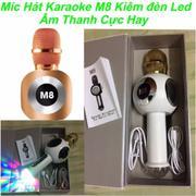 Micro Hát karaoke cầm tay kiêm loa Bluetooth M8 (Đen) - Hàng nhập khẩu