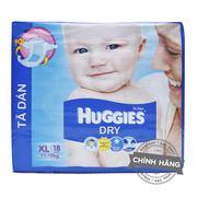 Tã-bỉm dán Huggies Dry XL18