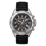 Đồng hồ nam dây da Timex T49985 (Đen)