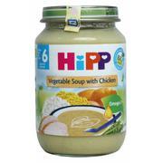 Dinh dưỡng đóng lọ Súp thịt gà, rau tổng hợp Hipp, 6 tháng, 190g