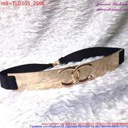 Thắt lưng nữ bản to kim loại logo Chanel thời trang quý phái TLD105