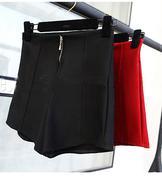 quần short nữ lưng cao dây kéo