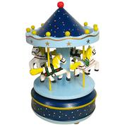 Classic Carousel Horses Rotating Music Musical Box with Castle in the Sky Melody Home Decoration Kid...