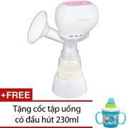 Máy hút sữa mẹ điện tử Unimom K-POP 871098 (Trắng) + Tặng 1 cốc tập uống có đầu hút 230ml INOMATA (X...