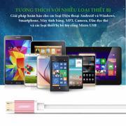Dây Micro USB sang USB 2.0 cao cấp dài 3m UGREEN US134 20837 (hồng)