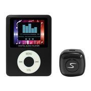 Bộ Tai nghe Bluetooth Mini NVPro V4.0 Đen và Máy nghe nhạc MP4 Neva Đen