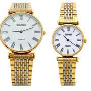 Đồng hồ cặp SKMEI dây thép SK069 (Vàng)