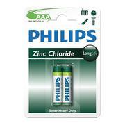 Vỉ 2 viên pin Philips LongLife AAA1,5V R03L2B/97 (Xanh lá cây)