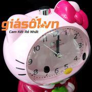 Đồng hồ báo thức để bàn Hello Kitty - SS19054 (Hồng Đậm)