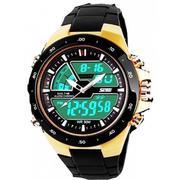 Đồng hồ nam dây nhựa SK004 (Vàng)
