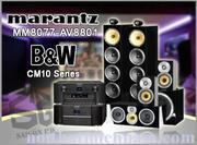 MARANTZ MM8077 + AV8801 - B&W CM10 Series