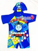 áo bơi bé trai cộc tay liền  quần có mũ hình tầu hỏa Thomas size 2 đến 6 tuổi