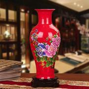 Bình hoa gốm sứ màu đỏ, dùng trang trí cho ngôi nhà của bạn, MS-xzgh007-R-1