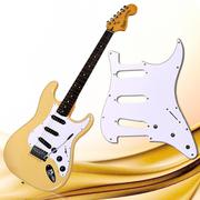 3Ply SSS 11 Holes Strat Electric Guitar Pickguard for FD (White) - INTL