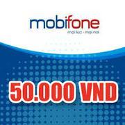 Thẻ điện thoại  Mobifone 50