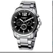 Đồng hồ nam dây thép không gỉ EYKI P-EY012 (Đen)