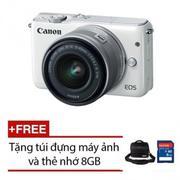 Canon EOS M10 18MP với Lens Kit EF-M 15-45mm (Trắng) + Tặng 1 Thẻ 8GB và 1 túi đựng máy ảnh chính hã...