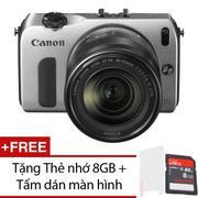 Canon EOS M 18.1MP với Lens Kit 18-55mm F3.5-F5.6 (Bạc) + Tặng 1 Thẻ nhớ 8GB , 1 Tấm dán màn hình
