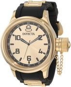 Đồng hồ Invicta Nam 1438 Russian Diver Gold Dial Black Polyurethane Watch
