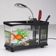 Bể cá mini phong thuỷ để bàn (đen)