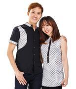 Áo cặp chấm bi thời trang - Đen