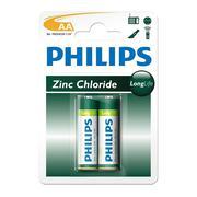 Vỉ 2 viên pin Philips LongLife AA1,5V R6L2B/97 (Xanh lá cây)