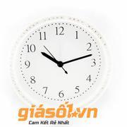 Đồng hồ báo thức King Time đính đá - US003 (Trắng)