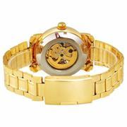 Đồng hồ cơ nam dây thép không gỉ lộ máy SEWOR SE1082HT (Vàng)