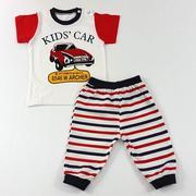 Bộ Quần áo cộc tay Beego kids car (đỏ) 36M