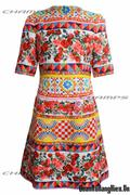 Đầm MOON hoa văn 15397
