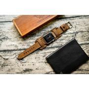 Dây đồng hồ da thật Handmade cho Apple Watch ( 38mm và 42mm ) – Mẫu BF02D48 CUFF