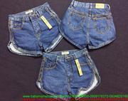 Quần jean short nữ phối khóa kéo 2 bên sành điệu QSO111