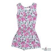 Bộ liền quần bé gái màu 52105 - BG-50521