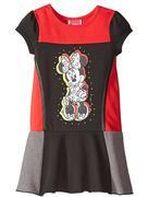 Disney Girls Minnie Short Sleeve Panel Dress 6t