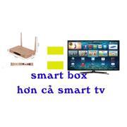 Smart tivi box Q9s hỗ trợ 4K (Vàng đồng)