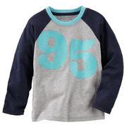 Áo cotton Oshkosh chữ nhũ tay đắp-GAD108