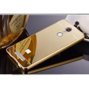 Ốp lưng tráng gương viền kim loại cho Xiaomi Redmi Note 3 (Vàng)
