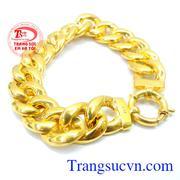 Lắc tay nam vàng thời trang