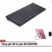 Bàn phím Bluetooth dành cho tabs, điện thoại + Tặng giá đỡ điện thoại mầu hồng