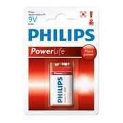 Vỉ 1 viên pin Alkaline Philips 6LR61P1B/97 9V (Đỏ)