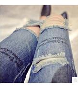 quần jeans dài rách cá tính