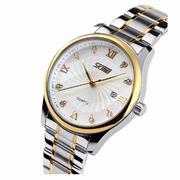Đồng hồ nam dây thép không gỉ SKMEI SK063 (Bạc)