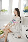 Đầm bầu ren Korea Style XD1778