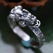 Nhẫn bạc nam Tỳ Hưu handmade Hadosa size mở Hadosa