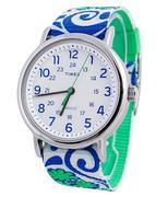 Đồng hồ nữ dây vải phối màu TIMEX TW2P90300 - Xanh