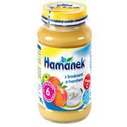 Dinh dưỡng đóng lọ Hamanek Đào và Phô mai tươi 190g (6M+)