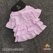 Áo kate sọc tầng tay loe dể thương cho bé gái 1 - 8 Tuổi AGB16290
