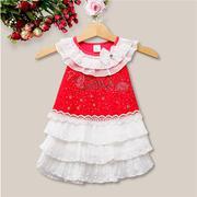 Đầm ren xếp tầng kiểu công chúa cho bé