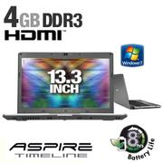 Acer Aspire Timeline AS3810T-6376 LX.PCR02.124 Notebook PC - Intel Core 2 Duo SU9400 1.4GHz, 4GB DDR...