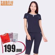 Bộ lửng mặc nhà thời trang Sunfly (Xanh navy) SP1330